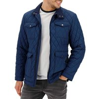Navy Four Pocket Quilted Jacket.