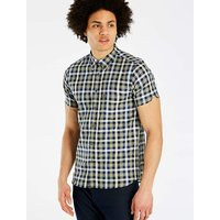Ben Sherman Mix Texture Check Shirt Long