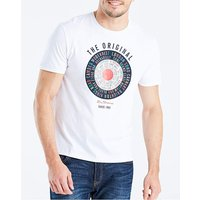 Ben Sherman Text Target T-Shirt Long