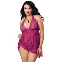Dreamgirl Lace And Mesh Babydoll