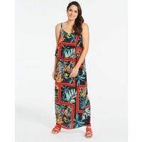 Tropical Layered Maxi Dress