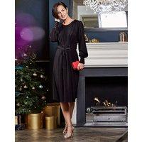 Black Corset Midi Dress