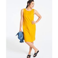 Saffron Easycare V Back Linen Dress