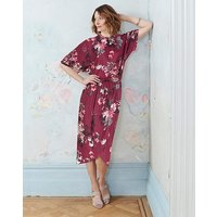 Kimono Dress with Wrap Skirt