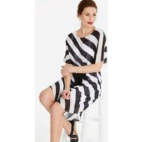 Drop Sleeve Stripe Dress