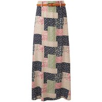 Apricot Patchwork Maxi Skirt