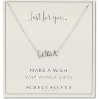Simply Silver wish necklace