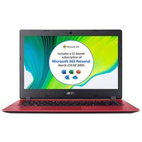 Acer Aspire 1 14in HD Notebook - Red