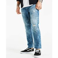 Jacamo Bleachwash Tapered Jeans 33in