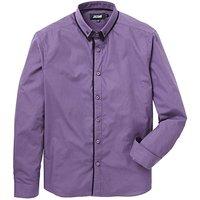 Purple Double Collar L/S Party Shirt