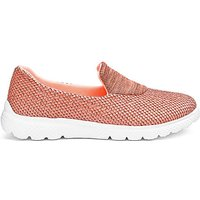Coral Marl Slip On Leisure Shoes Eee Fit