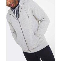 Grey Marl Full Zip Hooded Top Long.