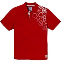 Crosshatch Graphic Print Polo