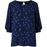 I.Scenery Abstract Print Blouse.