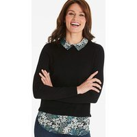 Oasis Curve Buttercup Jumper with Woven
