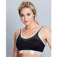 Active Mesh Sports Bra Black/White