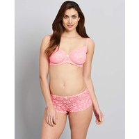Daisy Lace Full Cup Coral Bra