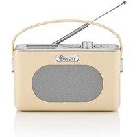 Swan Retro DAB Radio - Cream.