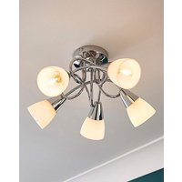 Alessia 5 Frosted Fitted Ceiling Light