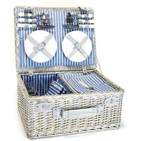 Y/S 4 Person Wicker Picnic Basket