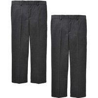 Young Boys Pck Two Trousers Generous Fit