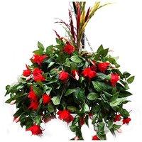Artificial Plant Fuchsia Basket