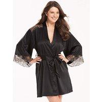 Ella Lace Black/gold Robe