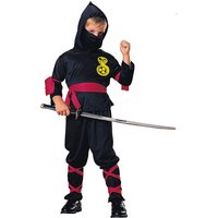 Boys Black / Red Ninja Costume