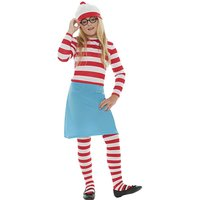 Where's Wally Girls Costume + Free Gift