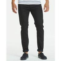 Slim Gaberdine Black Jeans 33 in