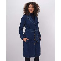 Indigo Denim Trench Coat