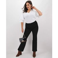 24/7 Black Bootcut Jeans Long
