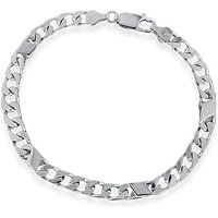 Sterling Silver 4 Bar And Curb Bracelet