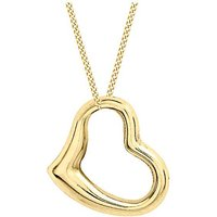 9Ct Gold Medium Floating Heart Necklace.