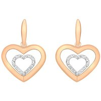 9Ct Gold Heart Earrings