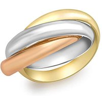 9Ct 3 Colour Gold Large Russian Ring