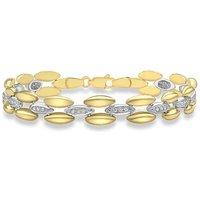 9Ct Gold Link Bracelet.