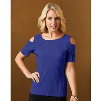 Cold Shoulder Plisse Top