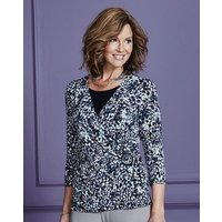 Jersey Wrap Top with Buckle Detail.