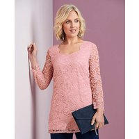 Stretch Lace Tunic Top