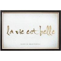 La Vie Est Belle Metallic Framed Print