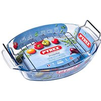 'Pyrex Oval Roaster With Rack