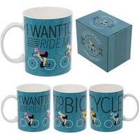 New Bone China Mug - Cycling Slogan