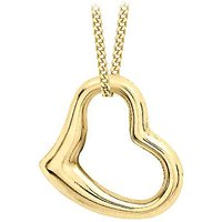 9Ct Gold Floating Open Heart Necklace