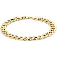 9 Carat Gold Hollow Oval Curb Bracelet.