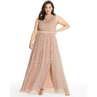 Maya Curve All Over Sequin Maxi Dress