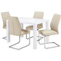 Halo Dining Table with 4 Atlanta Chairs