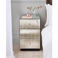 'Deco Assembled Mirrored Bedside Table