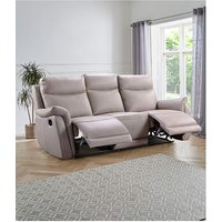 Falmouth Leather 3 Seater Recliner Sofa