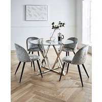 Estelle Table with 4 Palazzo Chairs.